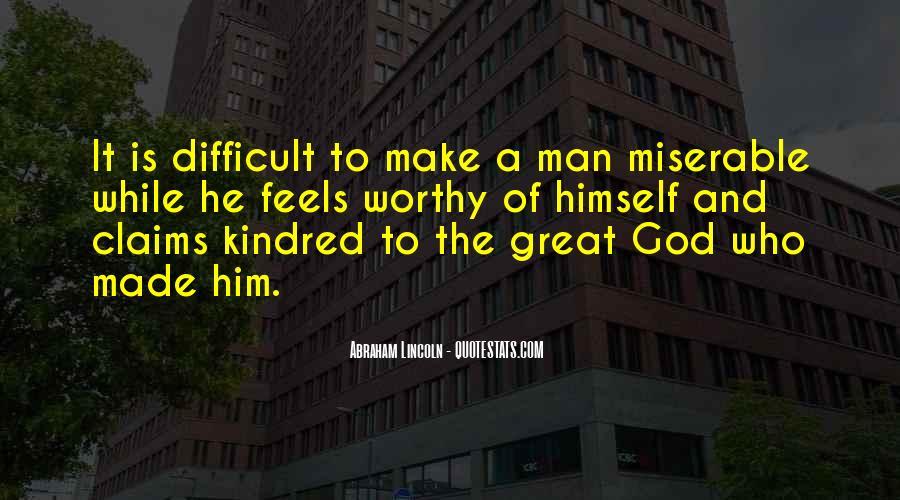 Worth Man Quotes #92351