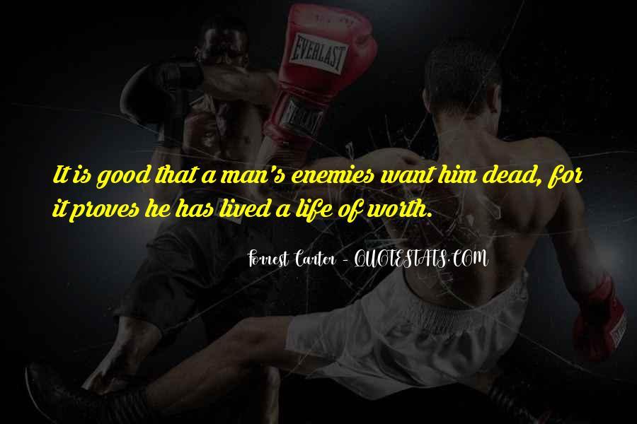 Worth Man Quotes #97063