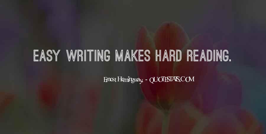 Writing Is Not Easy Quotes #80468