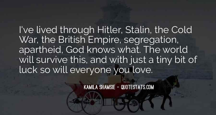 Quotes About Stalin And Hitler #733443