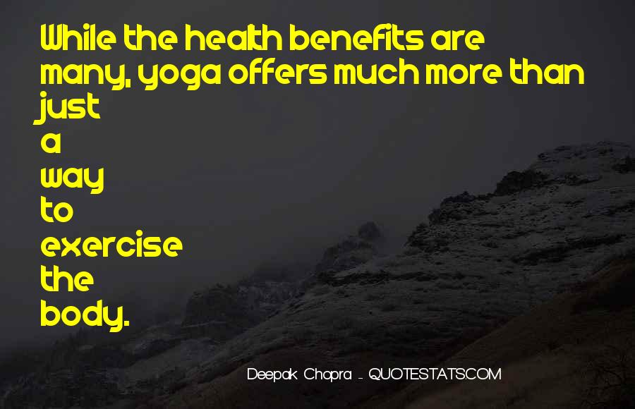 Yoga Benefits Quotes #1064667