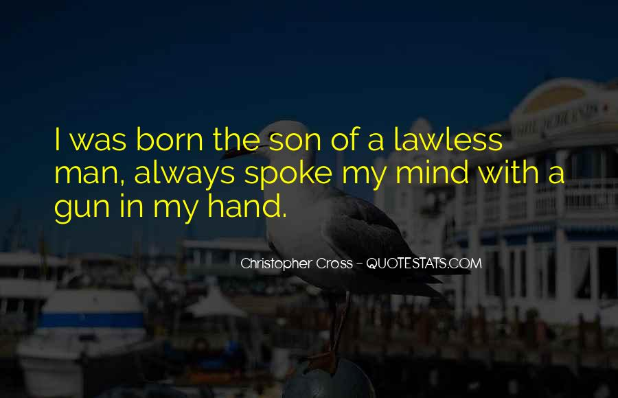 You Always Cross My Mind Quotes #943203
