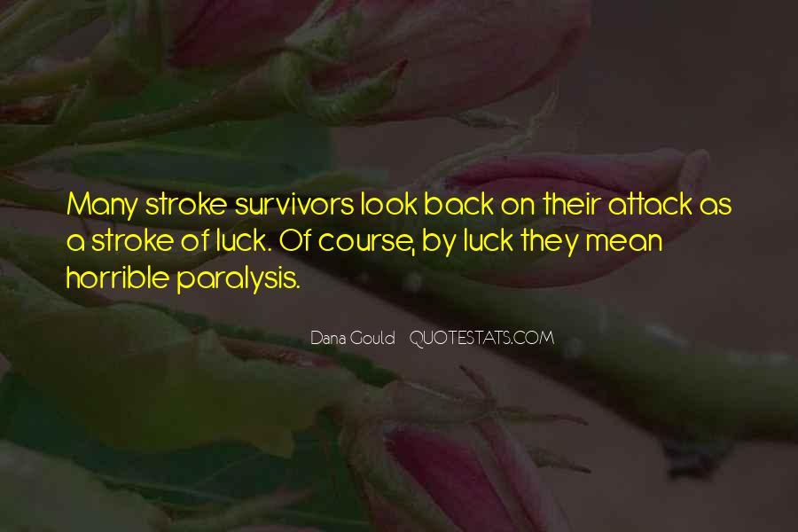 Survivor quotes stroke Reflections Of