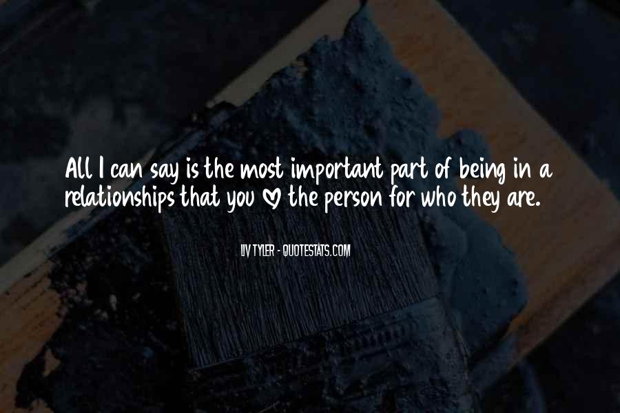 You Are Important Person Quotes #365945