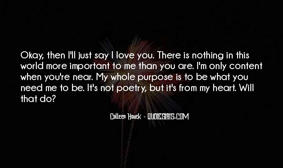 You Are Important To Me Love Quotes #1385029