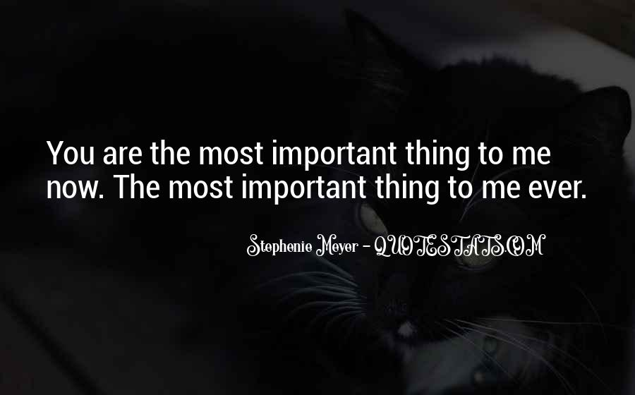 You Are Important To Me Love Quotes #266089