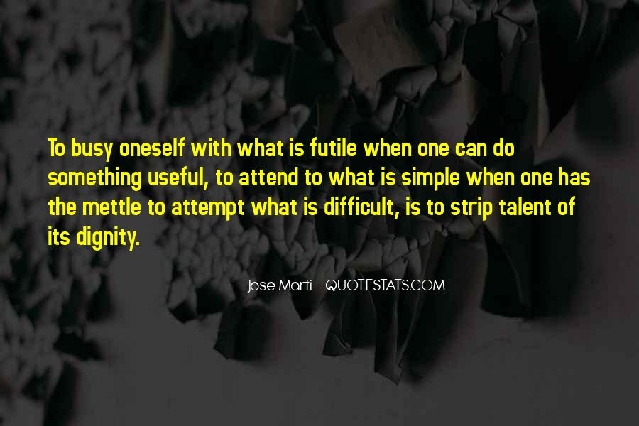 Quotes About Mettle #233791