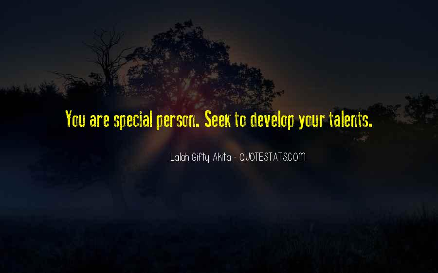 You Are Special Person Quotes #1724338