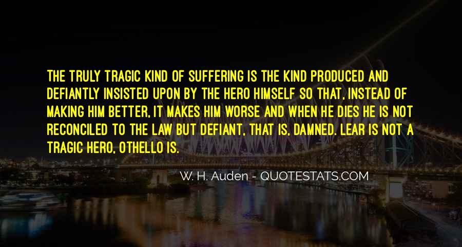 Quotes About Othello As A Tragic Hero #924450