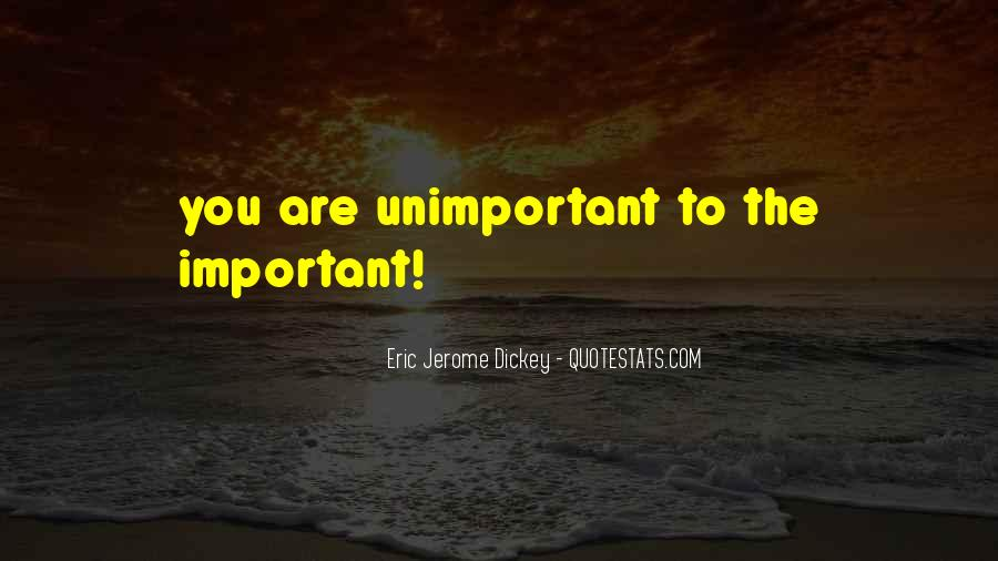 You Are Unimportant Quotes #282102