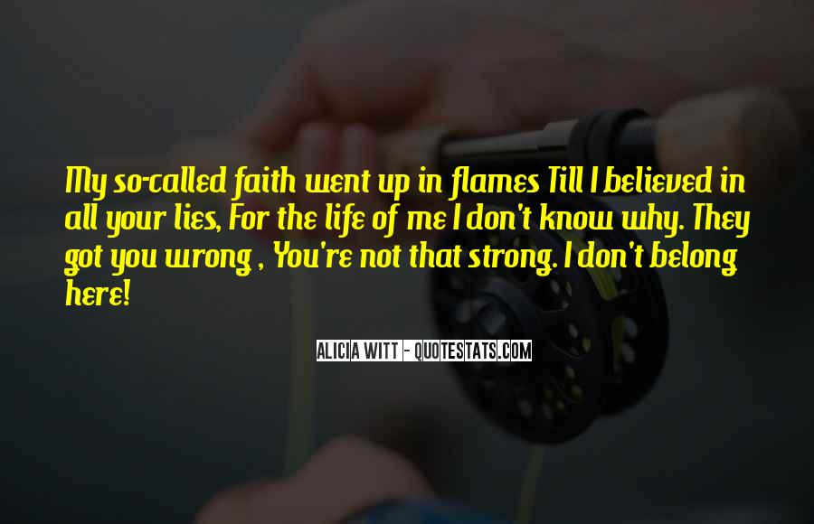 You Believed In Me Quotes #28923