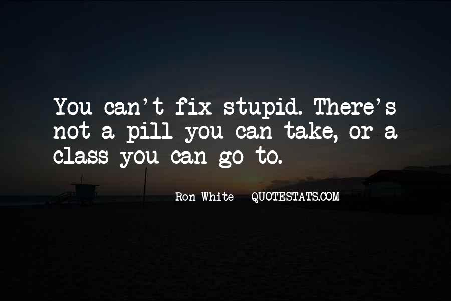 You Can't Fix Stupid Quotes #1490894