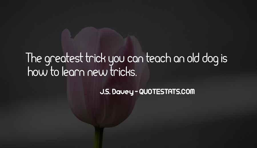 You Can't Teach An Old Dog New Tricks Quotes #1310343