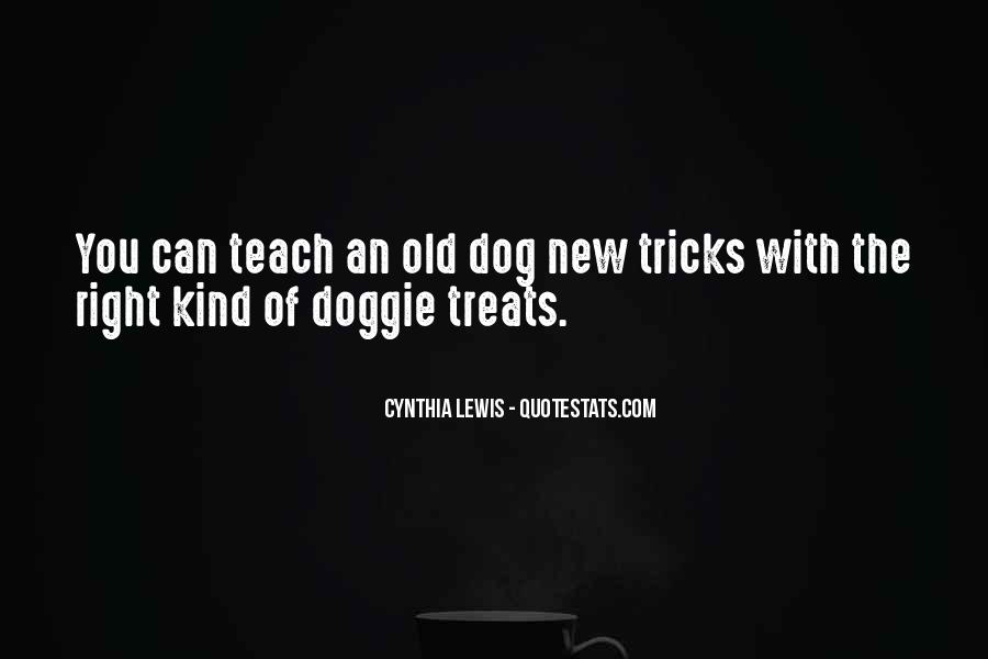 You Can't Teach An Old Dog New Tricks Quotes #1567275