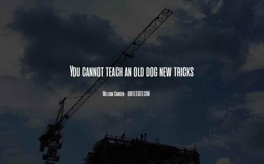 You Can't Teach An Old Dog New Tricks Quotes #929967