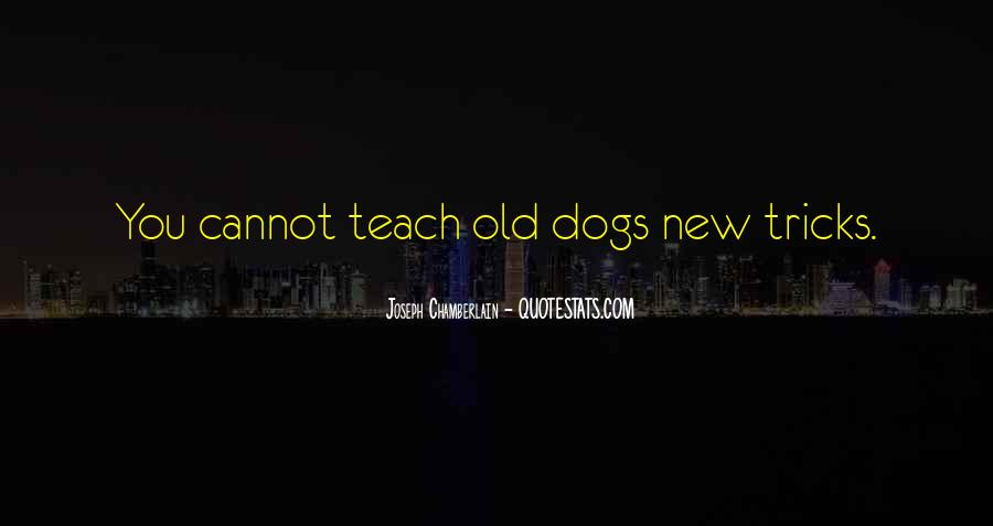 You Can't Teach An Old Dog New Tricks Quotes #997310