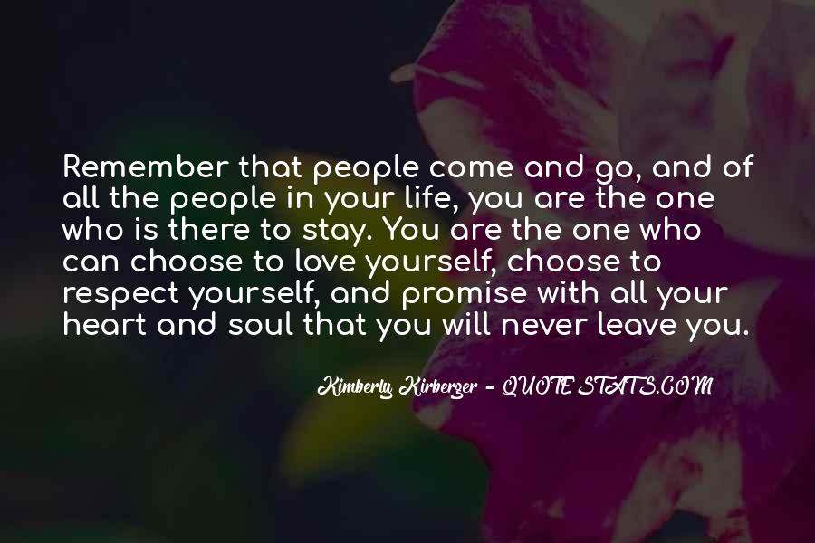 You Choose To Leave Quotes #1655267