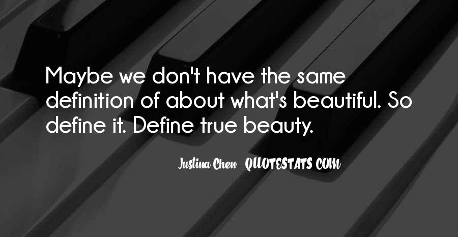 You Define Beauty Quotes #1006680