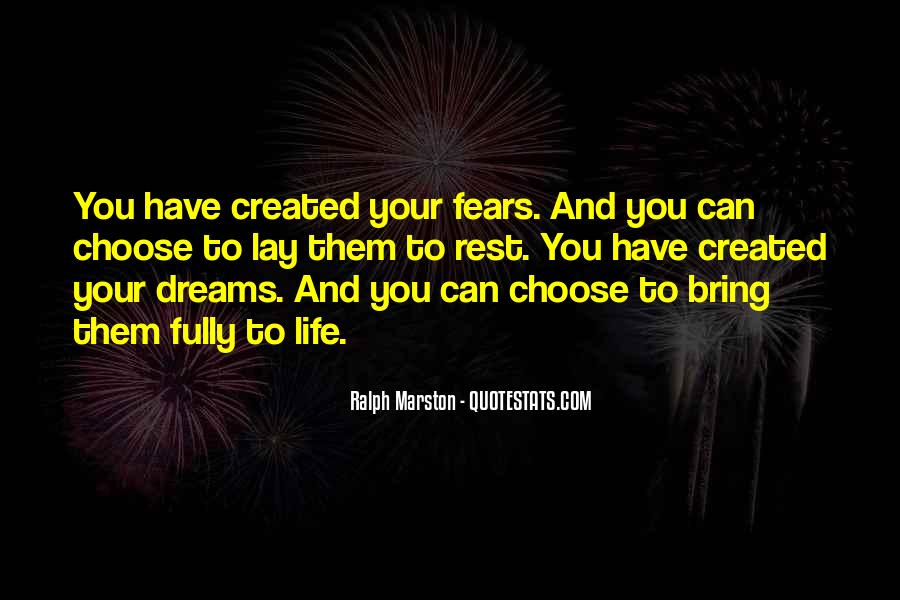 Quotes About Fears And Dreams #1163002