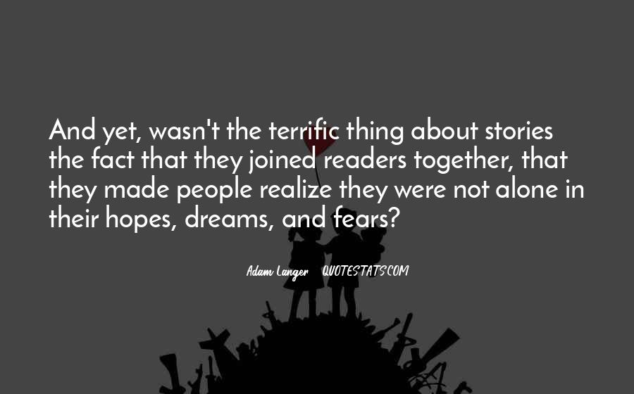 Quotes About Fears And Dreams #232275