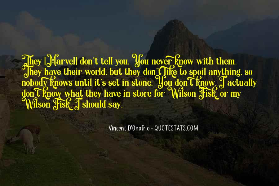 You Don't Know Anything Quotes #165007