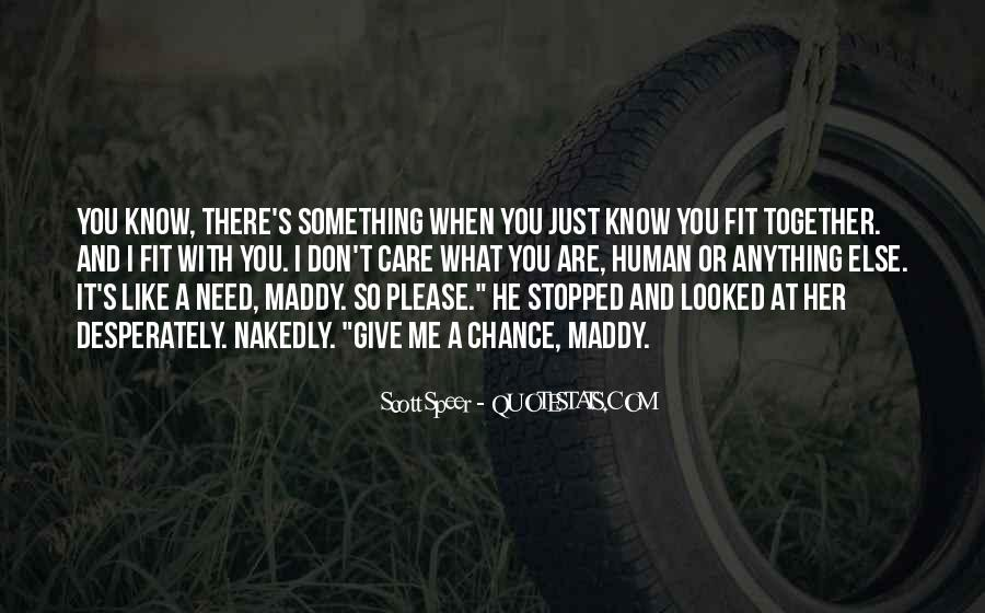 You Fit Me Quotes #27359