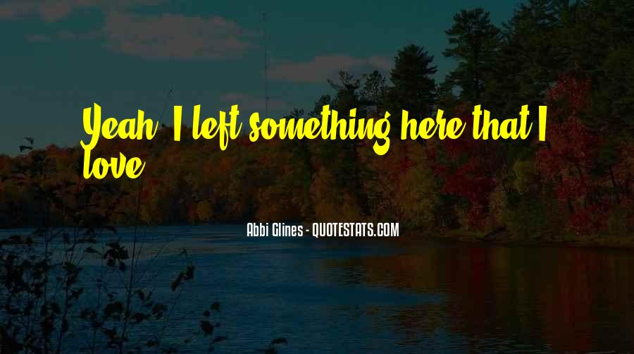 You Left Me Here Quotes #9449
