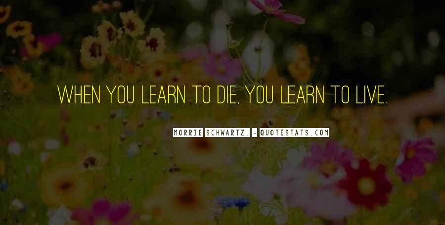 You Live You Learn Quotes #123581