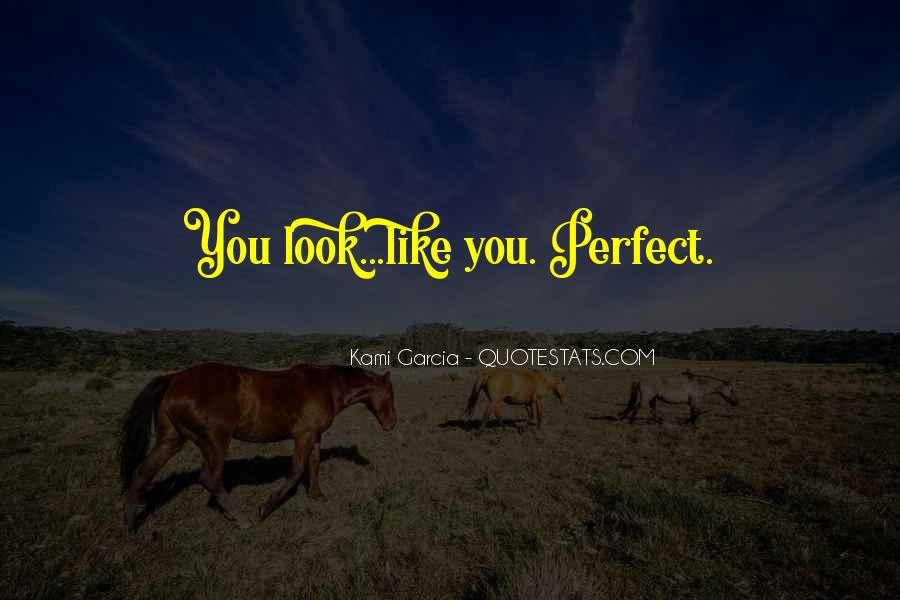 You Look So Perfect Quotes #142789