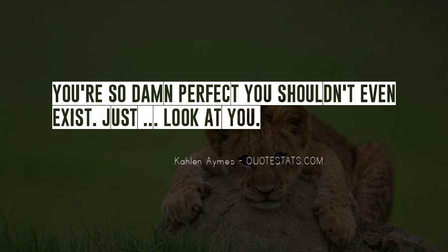 You Look So Perfect Quotes #1776760