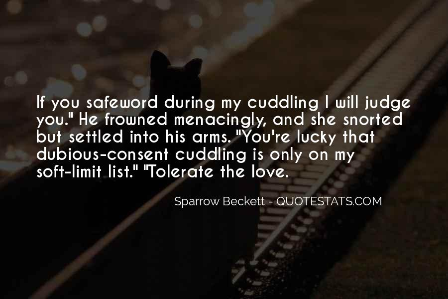 Quotes About Cuddling Up #265489