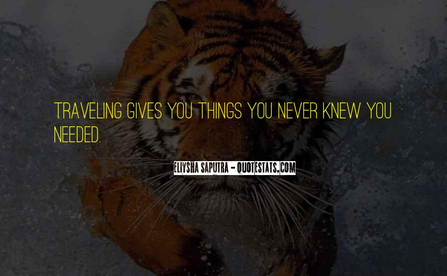 You Never Knew Quotes #73024