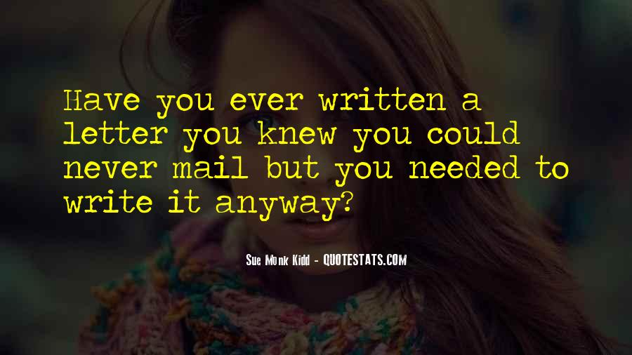 You Never Knew Quotes #86552