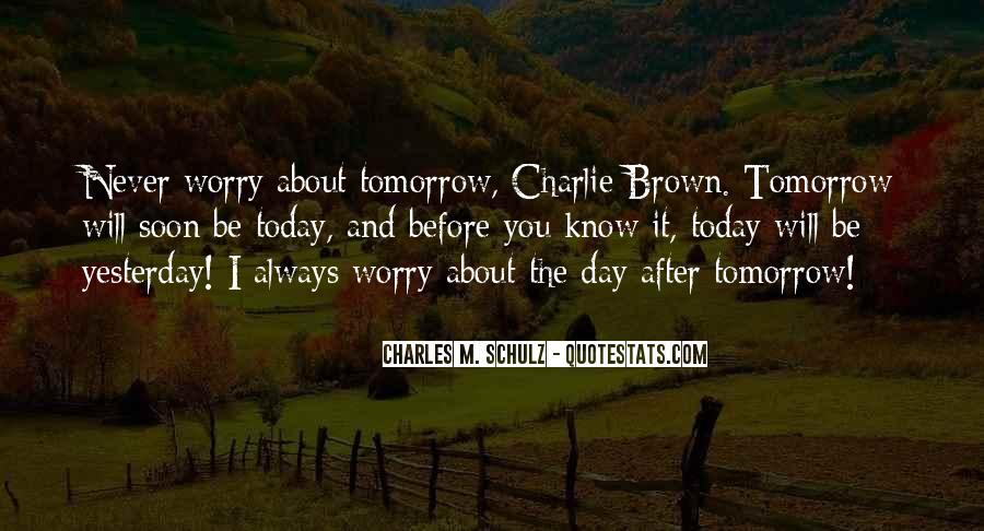 You Never Know Tomorrow Quotes #1064967