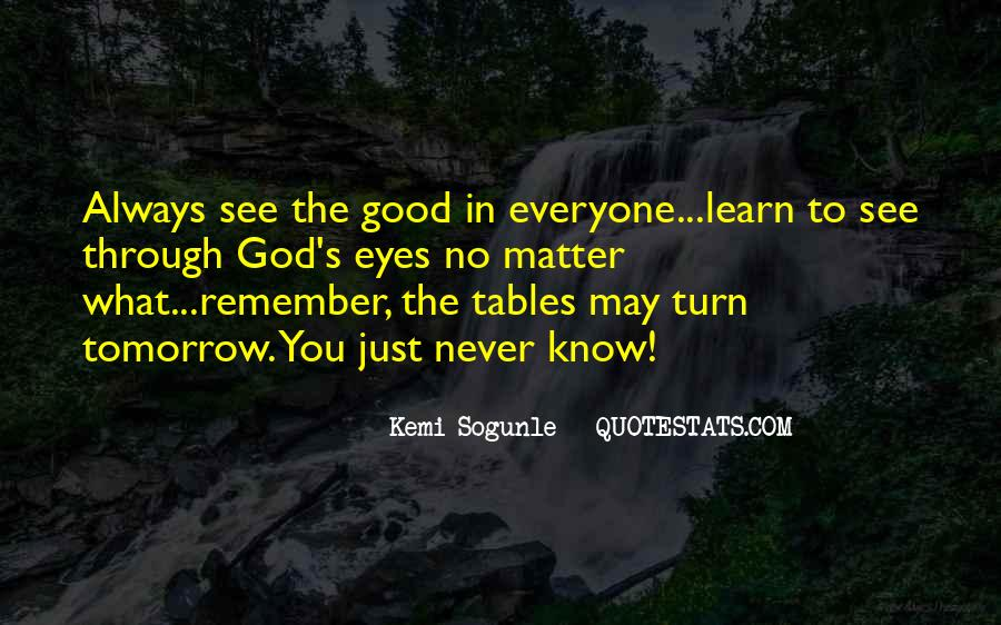 You Never Know Tomorrow Quotes #112160