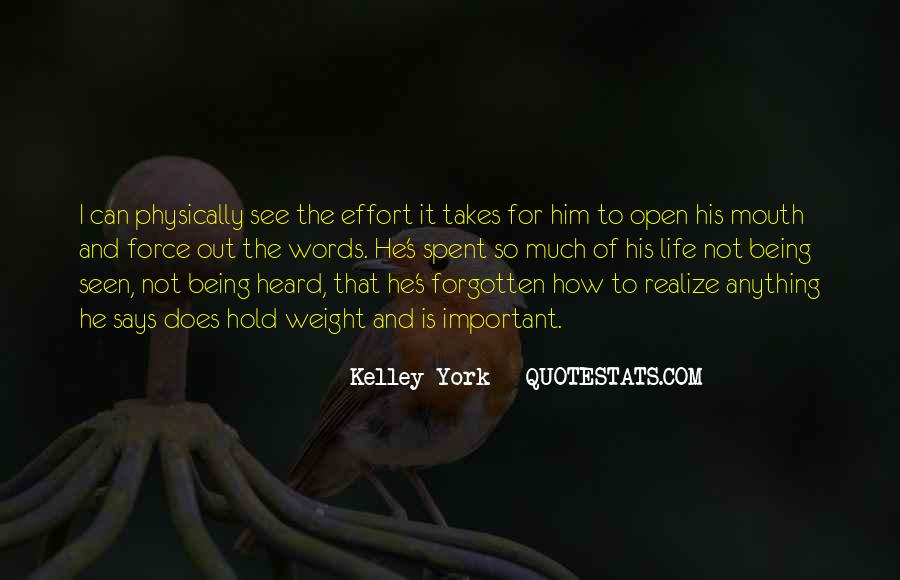 You Not Forgotten Quotes #1286042