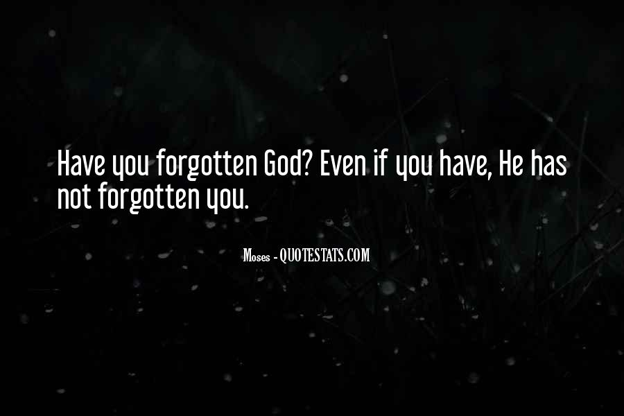 You Not Forgotten Quotes #471211