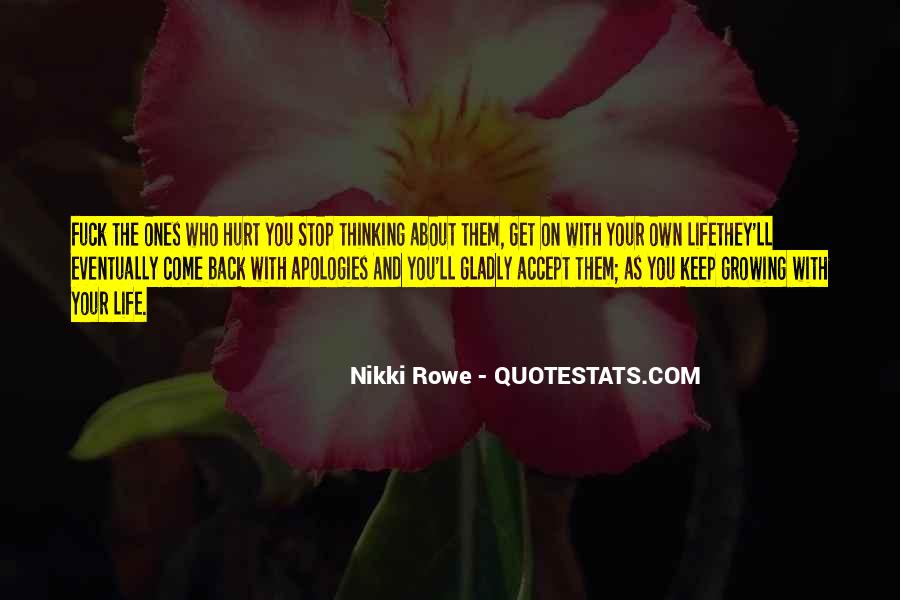 You Own Your Life Quotes #9355