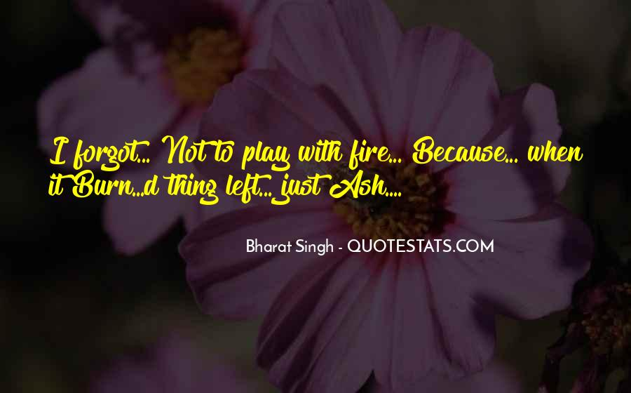 You Play With Fire Quotes #1368451