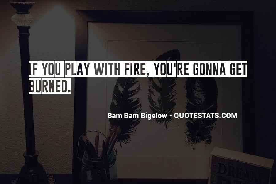 You Play With Fire Quotes #382580