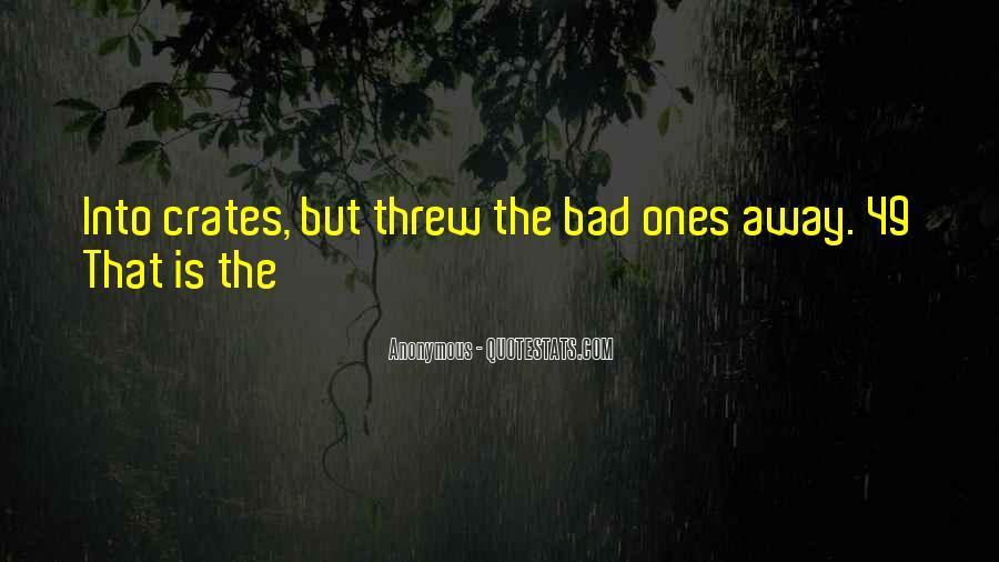 You Threw It Away Quotes #737914