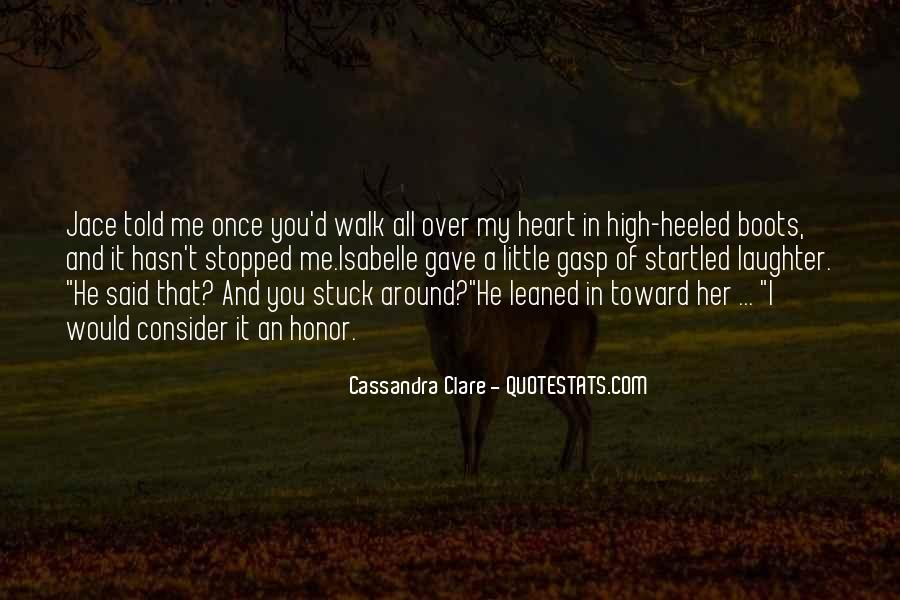 You Walk All Over Me Quotes #124529