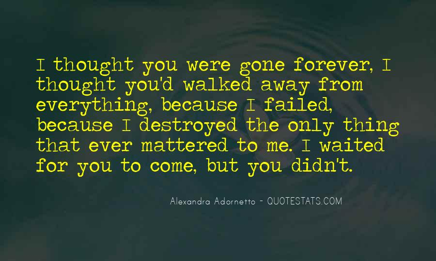 You Walked Away From Me Quotes #563799