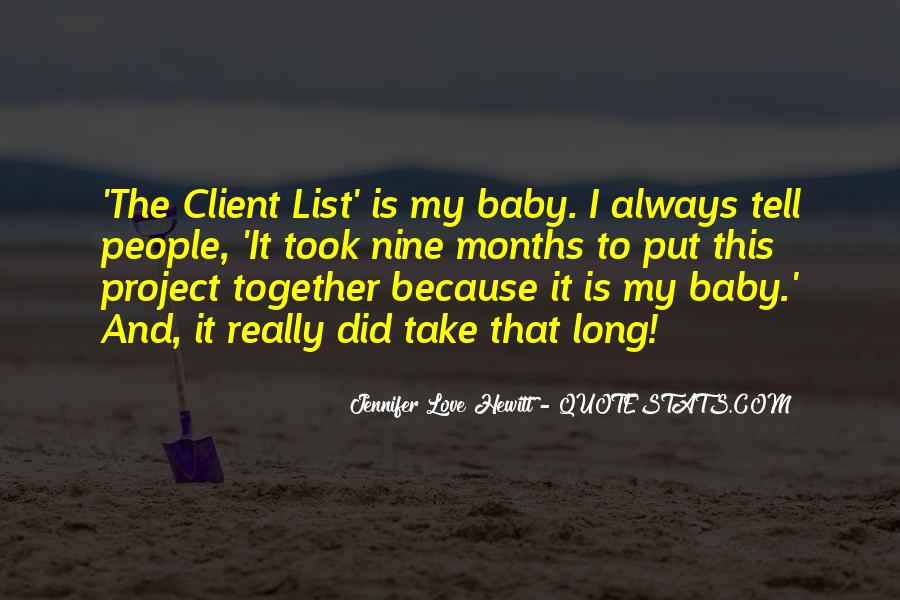 You Will Always Be My Baby Quotes #10646