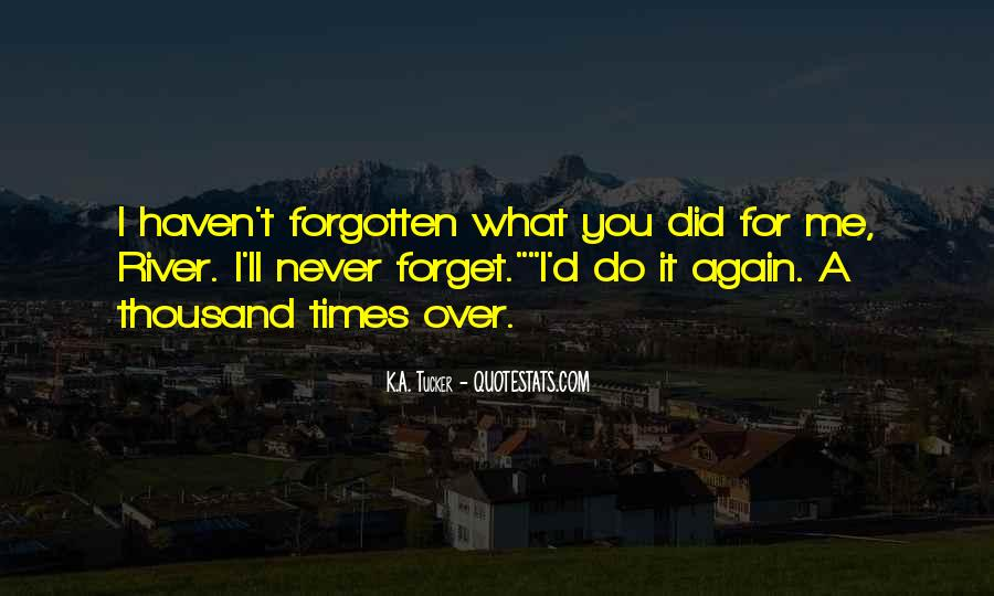 You'll Never Forget Me Quotes #1549800