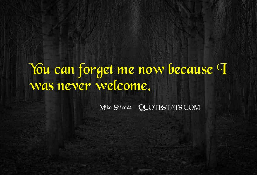 You'll Never Forget Me Quotes #229300