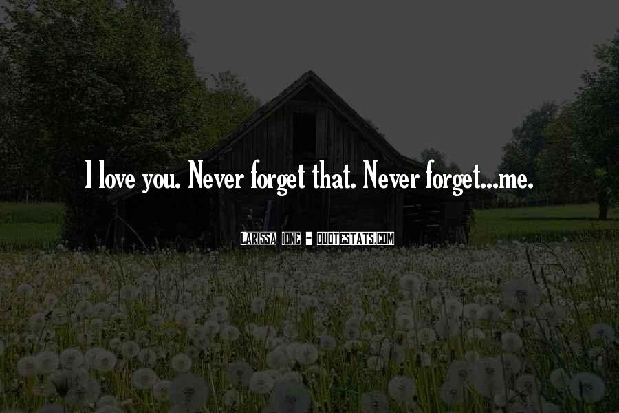 You'll Never Forget Me Quotes #405765