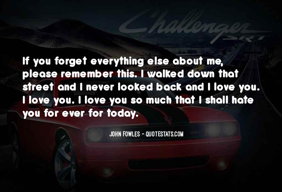 You'll Never Forget Me Quotes #558581