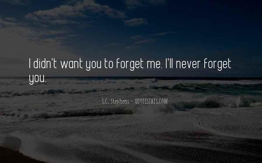 You'll Never Forget Me Quotes #686625