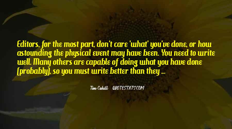 You're Doing So Well Quotes #213377